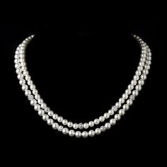 Moonlit Bridals - Two Strand Silver White Pearl and Pave Ball Necklace FREE SHIP, $119.99 (http://www.moonlitbridals.com/two-strand-silver-white-pearl-and-pave-ball-necklace-free-ship/)