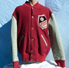 Vintage-Indiana-University-Rugby-Letterman-Jacket-Wool-Leather-50-Approx-L-XL
