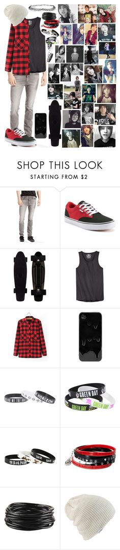 """Kyle David Hall"" by i-am-the-one-and-only ❤ liked on Polyvore featuring Levi's, Vans, American Rag Cie, WithChic, Hot Topic, Forever 21, ASOS, men's fashion and menswear"
