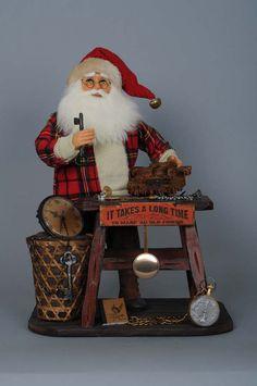 Vintage Clock Maker SantaItem #: VC-07
