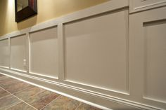6 Respected Tricks: Wainscoting Around Windows Doors wainscoting entryway board and batten.Wainscoting Diy How To Make waynes coating wainscoting sinks.Wainscoting Diy How To Make. Picture Frame Wainscoting, Wainscoting Height, Black Wainscoting, Wainscoting Nursery, Wainscoting Kitchen, Painted Wainscoting, Dining Room Wainscoting, Wainscoting Panels, Picture Frames
