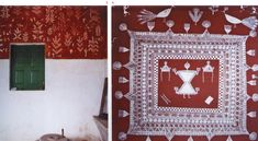 A Complete Warli painting Tutorial Guide - The Crafty Angels Worli Painting, Fabric Painting, Painting Techniques, Painting Tutorials, Crafty Angels, Tea Coaster, Paint Cards, Christmas Tree Cards, Earring Tutorial