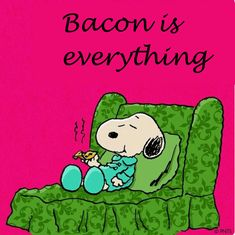 snoopy bacon is everything Food Cartoon, Peanuts Cartoon, Peanuts Snoopy, Snoopy Cartoon, Cartoon Pics, Peanuts Characters, Cartoon Characters, Peanut Pictures, Charlie Brown Und Snoopy