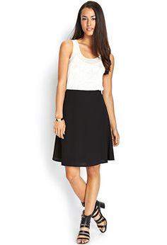 Woven A-Line Skirt | LOVE21 - 2000062683