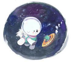 Space Bichon by Pocketowl.deviantart.com