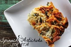 3 Ladies and Their Gent: WE EAT   Artichoke & Spinach Strata