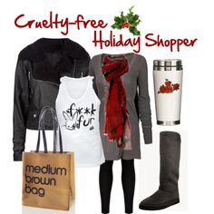 """Cruelty-free Holiday Shopper"" by officialpeta on Polyvore"