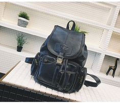fb2530e0d316 Aliexpress.com : Buy Vintage Women Backpack High Quality Leather School  Bags for Teenage Girls