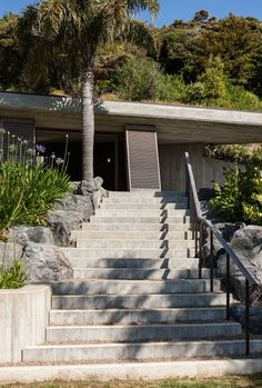 Concrete Steps up to the Sleepout Building at Rawhiti Bach