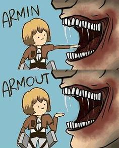 OMGsh this is funny and sad at the same time...Attack on Titan I laughed at first then slowly transitioned to crying. lol