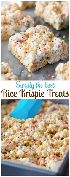 This is THE very best Rice Krispie Treat I've ever tried!   via @sugarspunrun