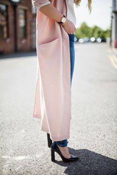 Marmalade: PINK DUSTER COAT http://www.mediamarmalade.com/2014/06/pink-duster-coat.html#more