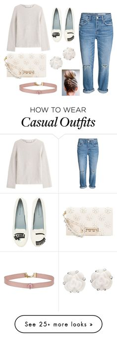 """""""Casual With A Little Bling"""" by fabfashion-101 on Polyvore featuring Helmut Lang, Chiara Ferragni, Chanel, Miss Selfridge, ZAC Zac Posen, loafers and CasualChic"""