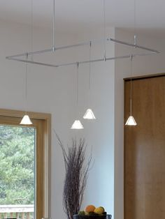 Frost Pyramid Pendants on Satin Nickel MonoRail Rectangle Tech Lighting Small Light-Weight Low Voltage & Tech Lighting 800RAL28 Onyx Rail Complete Monorail Kit - Tech ... azcodes.com