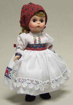 Doll Croatia - Boxed by Madame Alexander Girls Red Skirt, Red Skirts, Greece Girl, Boy Box, Green Hats, Madame Alexander Dolls, Yellow Dress, Beautiful Dolls, Croatia