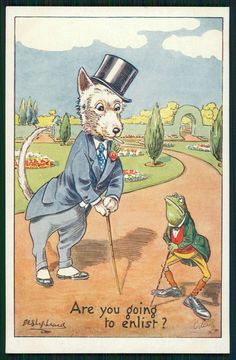 art Shepheard Dressed Frog talk with Westie Dog original old postcard Tuck Vintage Ephemera, Vintage Cards, Vintage Pictures, Vintage Images, Westies, Westie Dog, Frog Illustration, Frog Art, Cute Poster