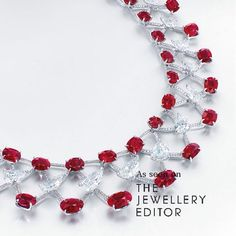 Such beauty demands such lust - designed by Edmond Chin, this bewitching 120 carat Burmese ruby and diamond necklace smashed auction records selling at @christiesjewels Hong Kong for over US$13 million #rubies #burmeseruby #diamonds #rubybracelet #luxury #ultimateluxury #auctions #hongkong #christies #jewellery