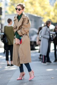 the fashion girls guide to wearing a trench coat