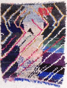Collector boucherouite rug moroccan rugs  rag rug by BOUCHEROUITE, $349.00
