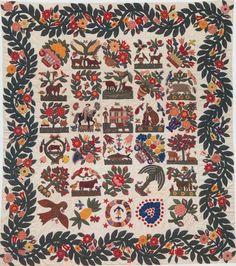 Baltimore Album Quilt Top, 1850. Berger-Miller family. Baltimore, Maryland.