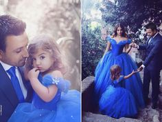 Awe how sweet! This Cinderella-inspired family photo session is making our hearts sing!