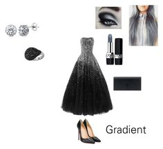 """Gradient Looks: Grey to Black Formal"" by artybunbun on Polyvore featuring Christian Louboutin, BERRICLE, Yves Saint Laurent and Christian Dior"