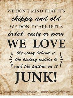 We Love Junk! <3