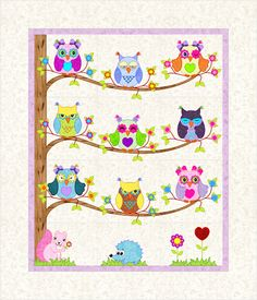 "The Quiltery ""The Owl Tree"" I love this one!"