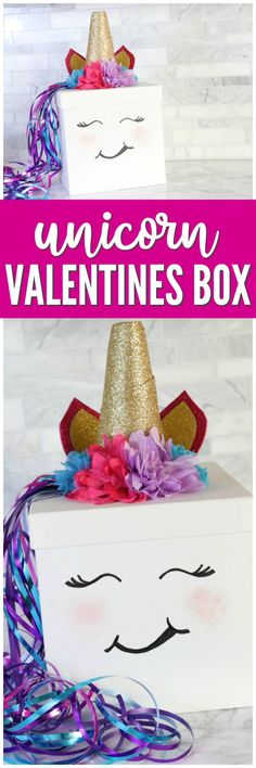 Easy Unicorn Valentines Day Box Idea You can Make Yourself! This is the Perfect Girl Valentines Day Box Idea for school your Unicorn Lover! day ideas for school Unicorn Valentines Day Box Idea You Can DIY for School! Valentine Boxes For School, Valentines Day Party, Valentine Day Crafts, Be My Valentine, Printable Valentine, Valentine Nails, Homemade Valentines, Valentine Wreath, Valentine Ideas