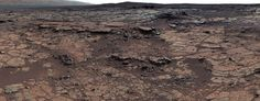 It's a beautiful day on Mars. Curiosity's MastCam captures this mosaic of images of the Yellowknife Bay formation.