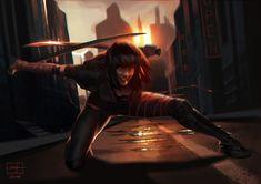Ninja, Salena Barnes on ArtStation at https://www.artstation.com/artwork/aayr0