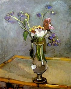 Bouquet on a Bamboo Table (1903) Henri Matisse