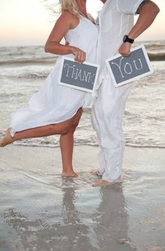 Great creative idea for wedding thank you cards!