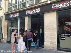 La nouvelle vitrine de la Cremerie de Paris, signée Casio ! Pop Up, G Shock, Casio, Glass Display Case, Popup