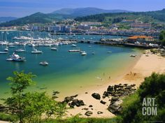 The Harbour at Bayona, Galicia, Spain, Europe Photographic Print by Duncan Maxwell at Art.com