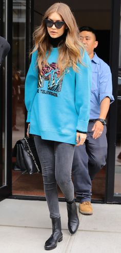 Gigi Hadid wearing our Marc Jacobs x MTV sweater