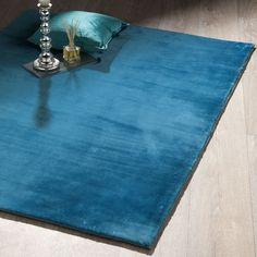 tapis bleu | Tapis à relief shaggy bleu Aspen