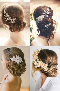 http://natural-hairs.com/how-to-make-the-perfect-side-swept-hair-bun/ My Goodness! Romantic wedding hairstyles. Side swept boho & vintage half up styles with flowers & accessories. Loose comb styles, simple & modern styles and soft makeup tips.