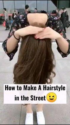 Hairdo For Long Hair, Easy Hairstyles For Long Hair, Cute Hairstyles, Hairdos, Curly Hair Tutorial, Hair Upstyles, Flower Girl Hairstyles, Grunge Hair, Hair Videos
