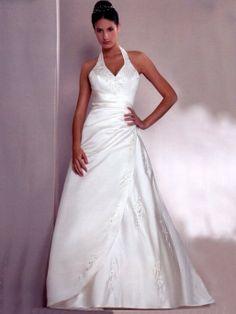 wedding dresses with straps around the neck   Wedding Dresses With Straps Around The Neck