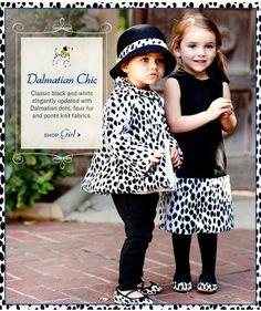 Dalmatian Chic- girl's fashion