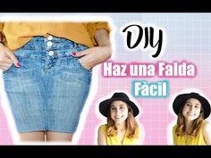 DIY Transforma un pantalón jeans en falda/DIY Turn Your Old Jeans Into Skirt - YouTube
