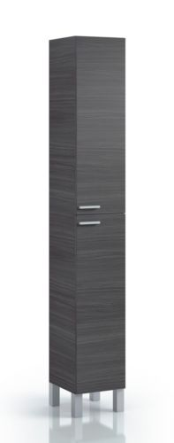 Koncept-Tall-Narrow-Bathroom-Cupboard-Black-Gloss-White-Furniture-Unit-Cabinet