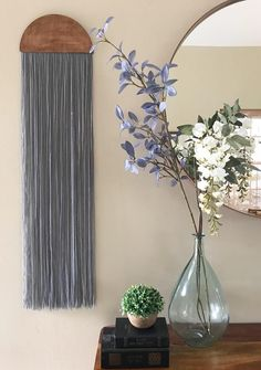 The biggest trend I have had my eyes on are macrame wall hanging & textile art. It's very bohemian and gives an organic feeling to a room. Home Decor Furniture, Furniture Makeover, Diy Home Decor, Yarn Wall Hanging, Tapestry Wall Hanging, Wall Hangings, Apartment Decorating On A Budget, Wall Accessories, Diy Wall Art