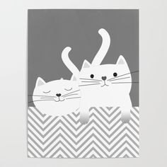 "#Cute #Kittens #Artwork by Art Studio.   - One size: 18"" (W) x 24"" (H)    - Printed on 100lb smooth gloss paper"