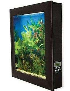 Wall fish tank #smallspaceorganization #smallspacedecor trendhunter.com