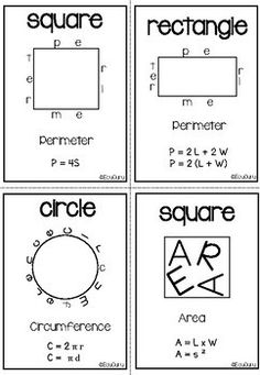 Perimeter Area Surface Area Flashcards FREEBIE Cooperative Learning Activities, Math Activities, Teacher Resources, Teaching Ideas, Area And Perimeter, Secondary Math, Free Math, Fifth Grade, Student Engagement