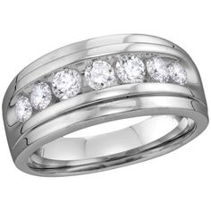 White Gold Men's Round Diamond Wedding Band Ring Cttw Gemstone Carats total weightAll diamonds are natural and conflict-free in originRound ct. clarity H-I color Channel White grams (approximately)Ring size stones C Diamond Bands, Diamond Wedding Bands, Wedding Anniversary Rings, Wedding Rings, Natural Diamonds, Round Diamonds, White Diamonds, Princess Cut Diamonds, Band Rings