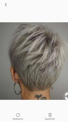 Back View Of Short Layered Haircuts. Back View Of Short Layered Haircuts. Back View Of Short Layered Haircuts Grey Wig, Short Grey Hair, Short Hair Cuts For Women, Short Hairstyles For Women, Back Of Short Hair, Gray Hair, Grey Short Hair Styles, Short Pixie Cuts, Long Pixie