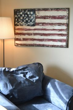 Vintage Inspired American Flag.
